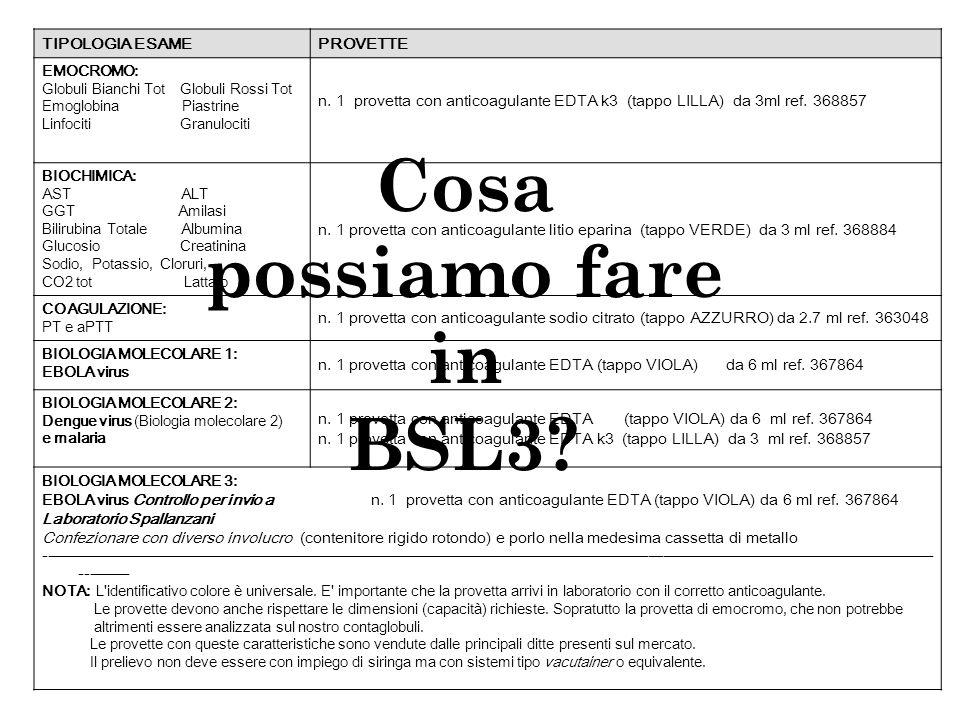 TIPOLOGIA ESAME PROVETTE EMOCROMO: Globuli Bianchi Tot Globuli Rossi Tot Emoglobina Piastrine Linfociti Granulociti n.
