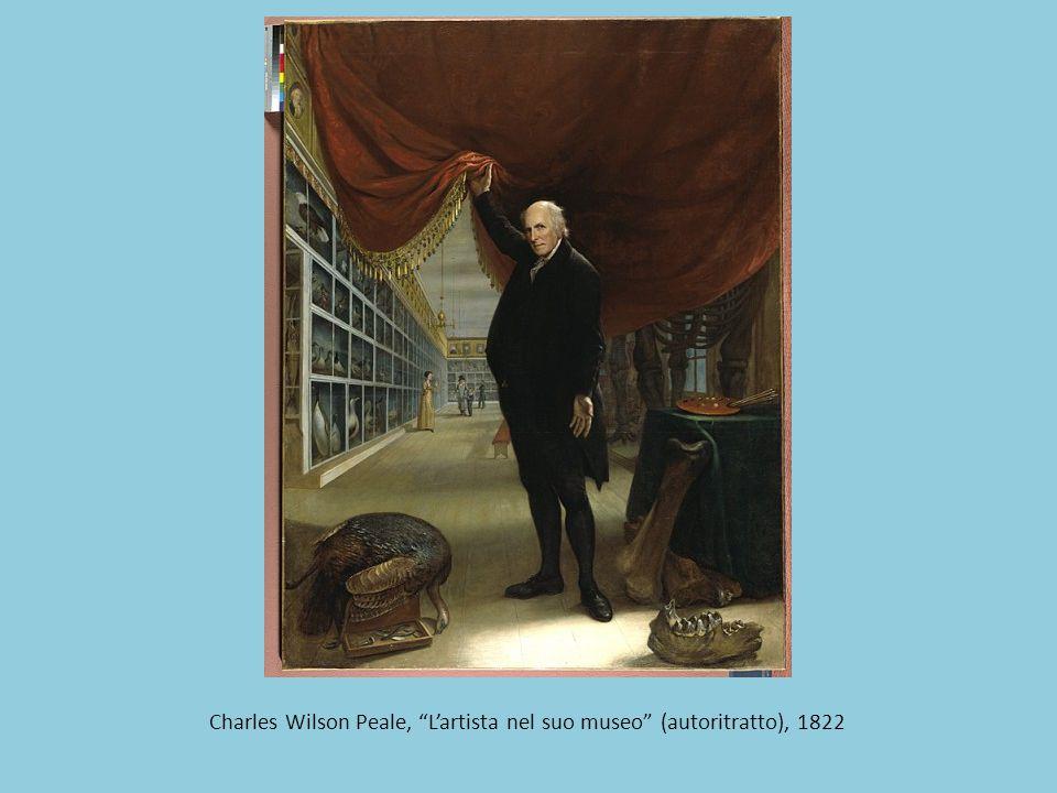 """Charles Wilson Peale, """"L'artista nel suo museo"""" (autoritratto), 1822"""