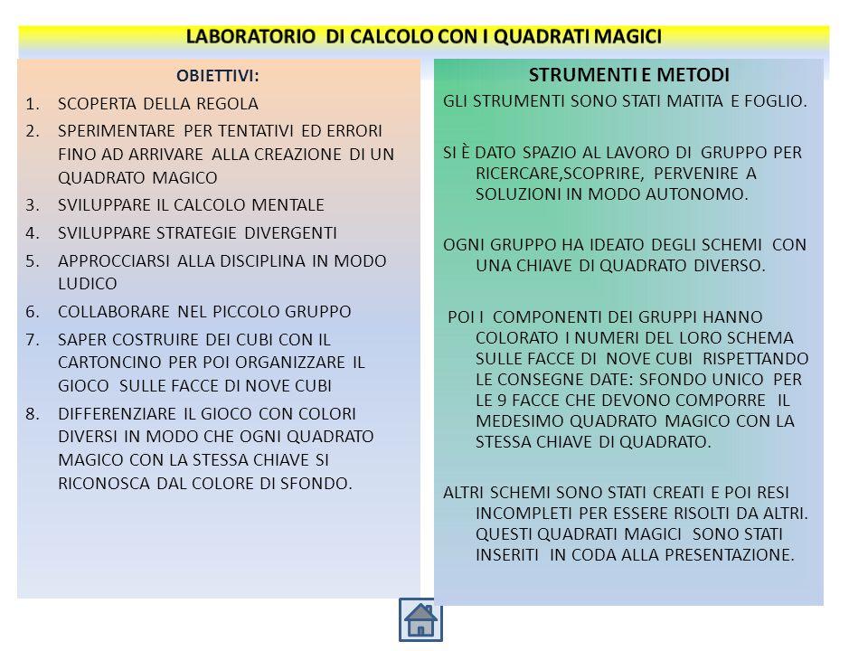 Il quadrato magico di ordine 3 è il più semplice da realizzare Se si moltiplica ogni numero del quadrato magico per una determinata cifra, si avrà un