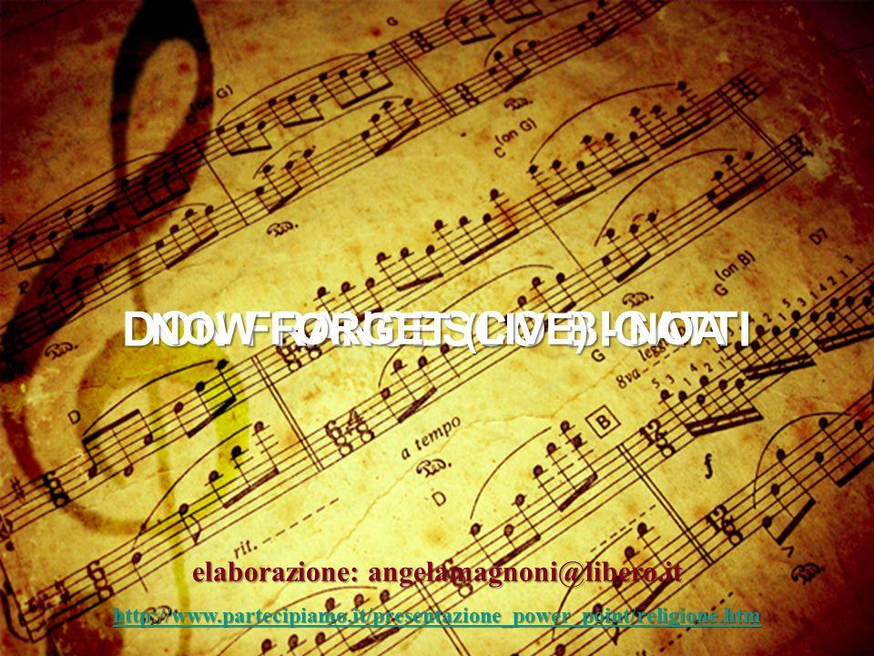 Io credo che Dio ha creato l'uomo perché aveva bisogno di una musica diversa, perché la musica che fanno gli uomini nessun Angelo del Cielo la poteva