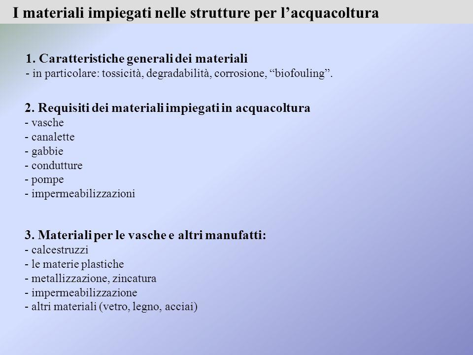 Potenziale elettrico di diversi materiali in acqua salata.