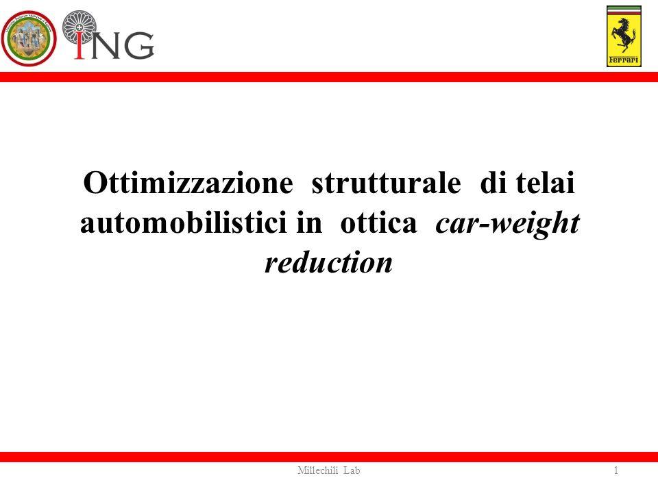 Ottimizzazione strutturale di telai automobilistici in ottica car-weight reduction 1Millechili Lab