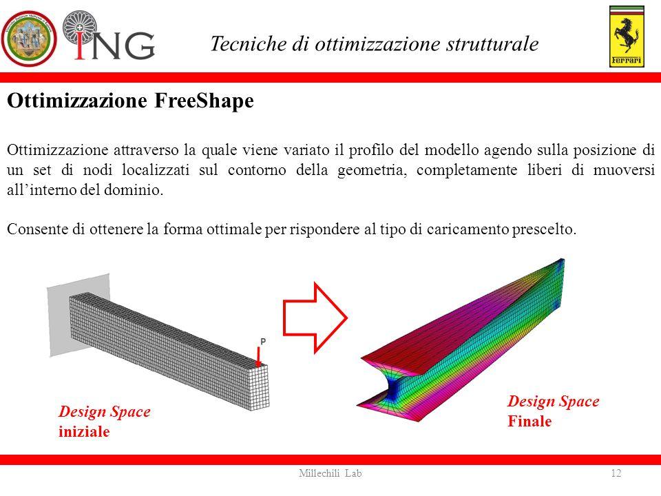 Ottimizzazione FreeShape Ottimizzazione attraverso la quale viene variato il profilo del modello agendo sulla posizione di un set di nodi localizzati