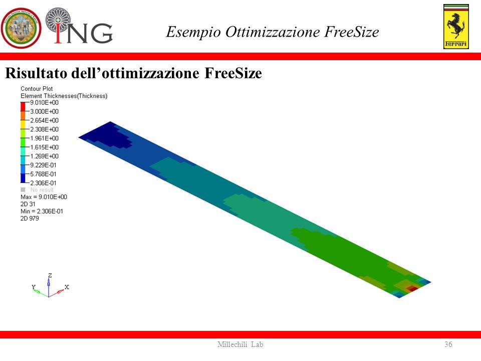 Risultato dell'ottimizzazione FreeSize Esempio Ottimizzazione FreeSize 36Millechili Lab
