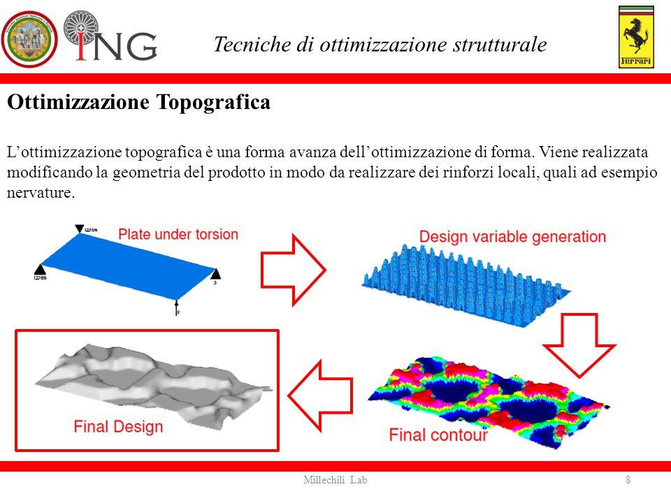 Ottimizzazione FreeSize Tecnica matematica che consente di ottimizzare la distribuzione di spessore nelle strutture che presentano elementi 2D, ossia shell.
