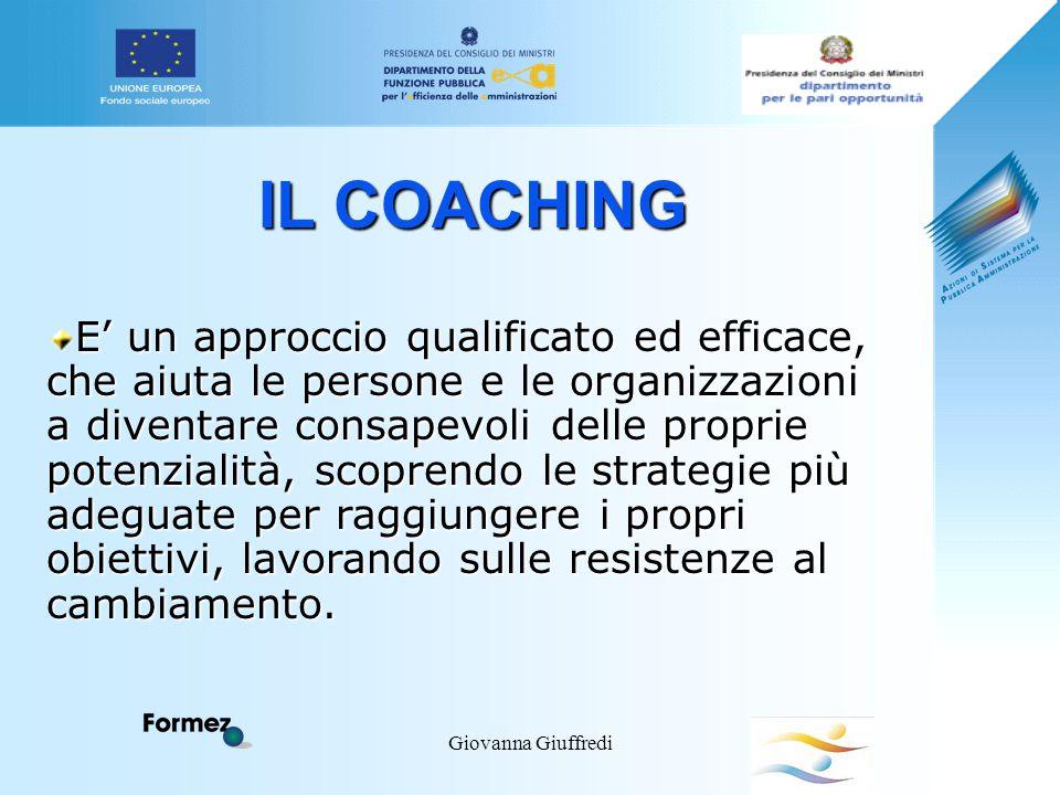 Giovanna Giuffredi IL COACHING E' un approccio qualificato ed efficace, che aiuta le persone e le organizzazioni a diventare consapevoli delle proprie