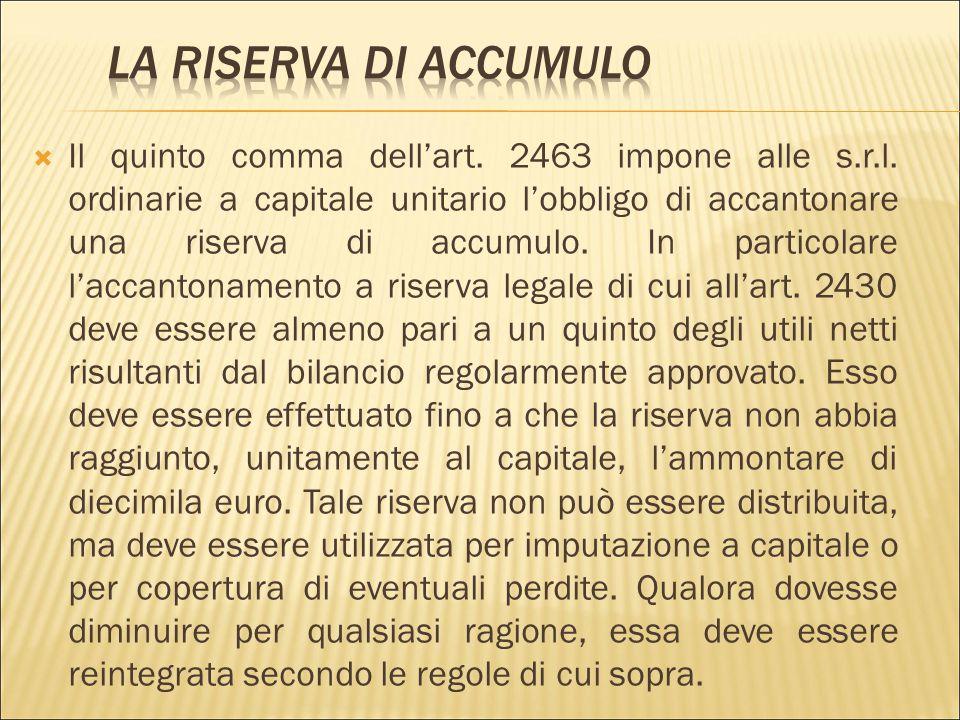  Nella s.r.l.s. e nella s.r.l. ordinaria a capitale unitario, i conferimenti devono:  essere necessariamente in denaro,  essere interamente liberat