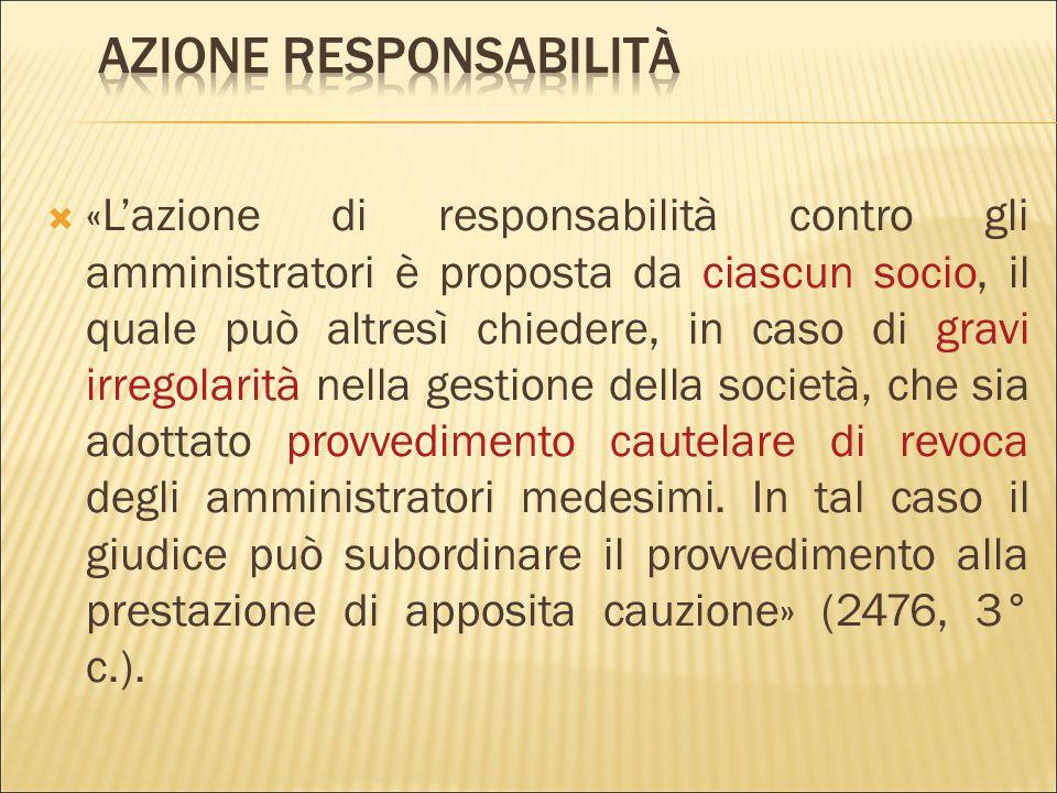  «Gli amministratori sono solidalmente responsabili verso la società dei danni derivanti dall'inosservanza dei doveri ad essi imposti dalla legge e d