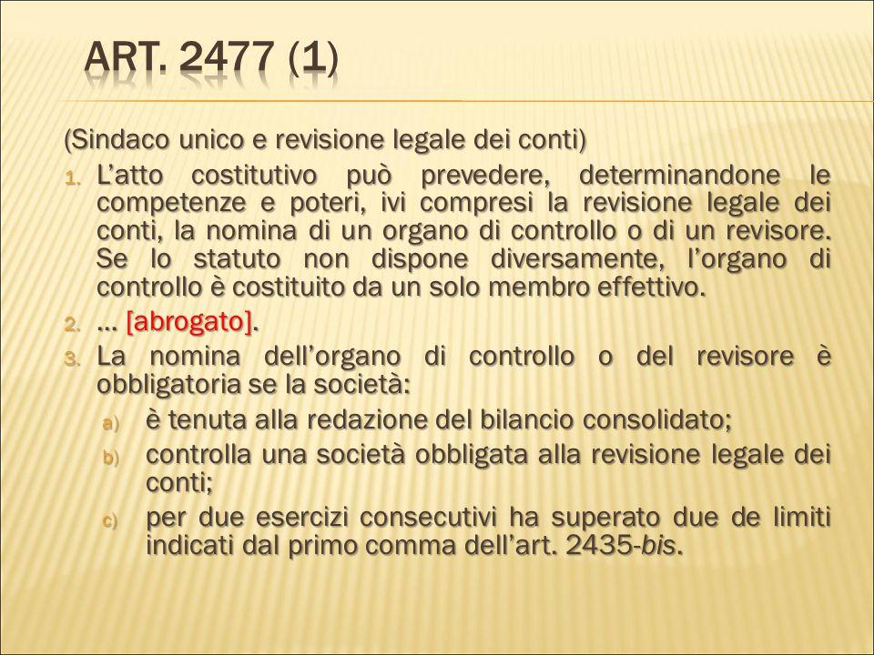  Responsabilità verso la società (2476, 1° c.)  azione proposta dai soci (2476, 3° c.),  non è prevista un' azione proposta dalla società.  Non è