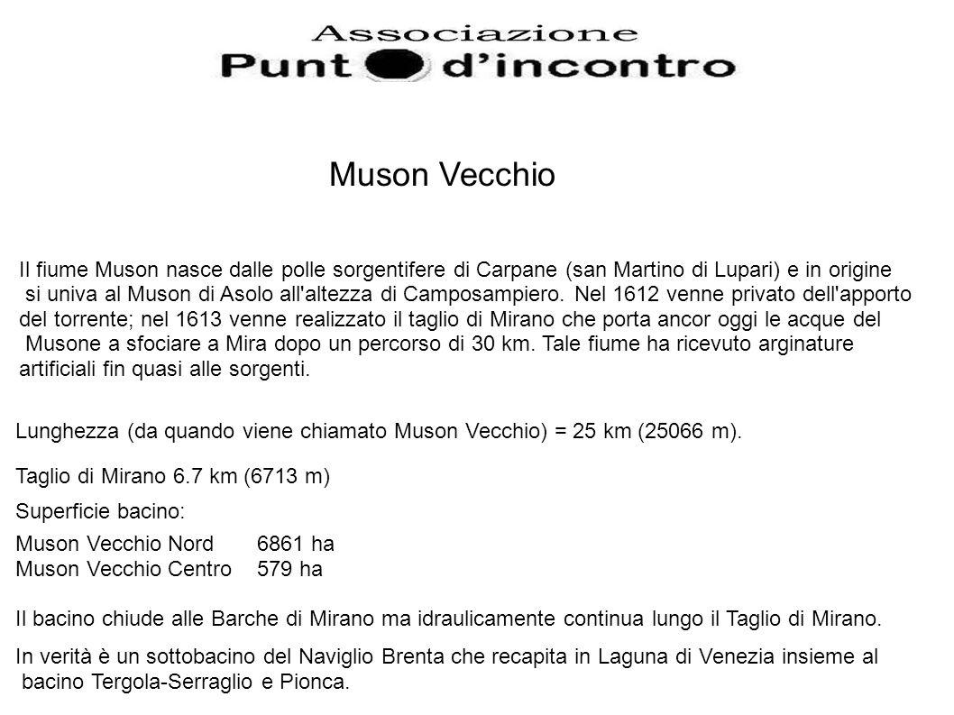 Il fiume Muson nasce dalle polle sorgentifere di Carpane (san Martino di Lupari) e in origine si univa al Muson di Asolo all altezza di Camposampiero.