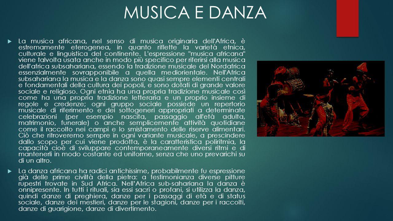  La musica africana, nel senso di musica originaria dell'Africa, è estremamente eterogenea, in quanto riflette la varietà etnica, culturale e linguis