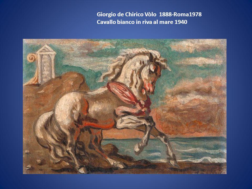 Giorgio de Chirico Vòlo 1888-Roma1978 Cavallo bianco in riva al mare 1940