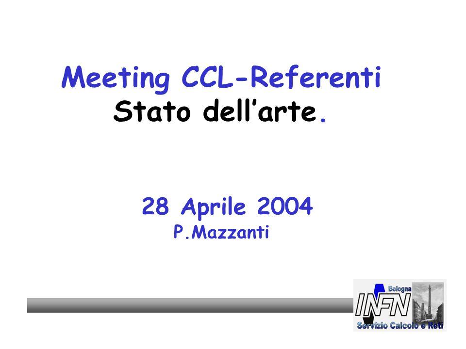 Meeting CCL-Referenti Stato dell'arte. 28 Aprile 2004 P.Mazzanti