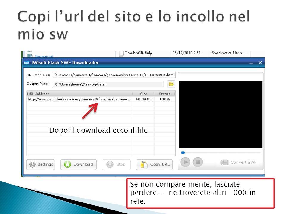 Dopo il download ecco il file Se non compare niente, lasciate perdere… ne troverete altri 1000 in rete.
