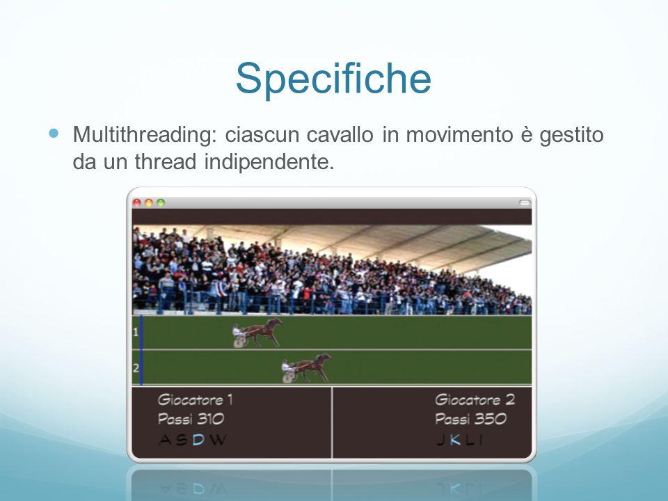 Specifiche - GUI Gestione GUI: l'interfaccia grafica è gestita attraverso la libreria AWT/Swing.