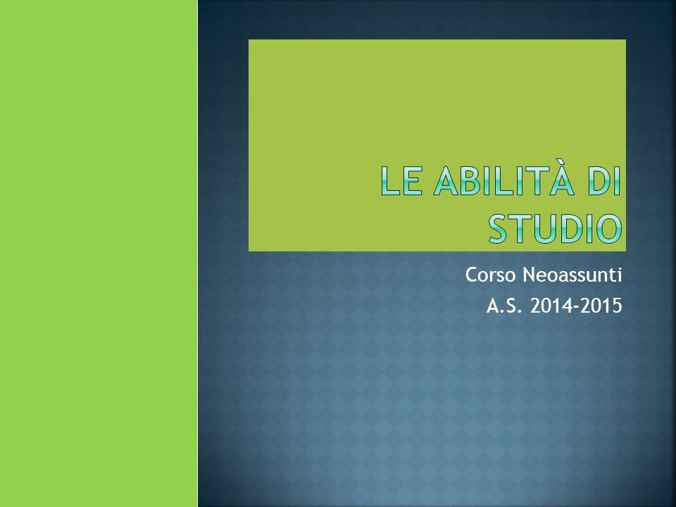 Corso Neoassunti A.S. 2014-2015
