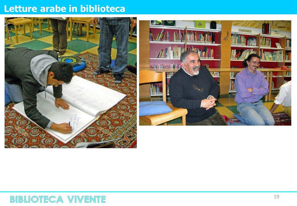 19 Letture arabe in biblioteca