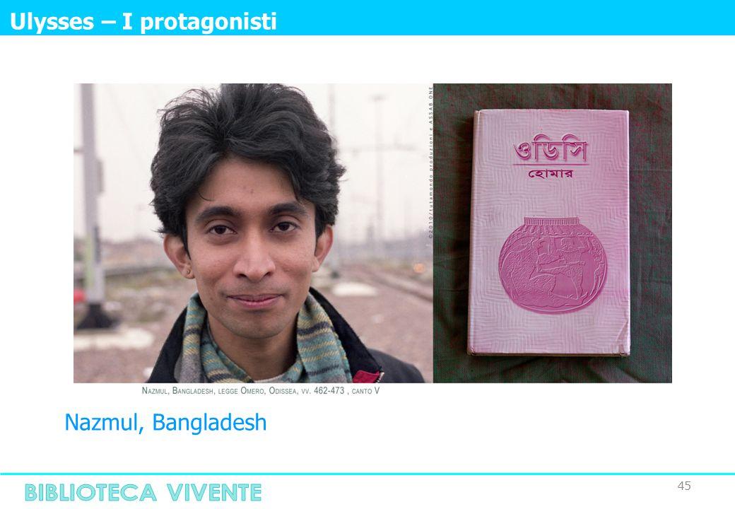 45 Ulysses – I protagonisti Nazmul, Bangladesh