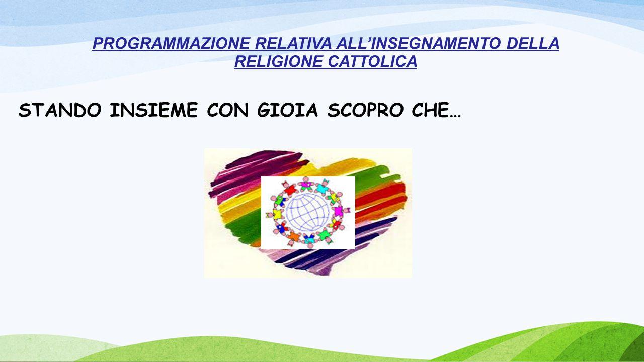 STANDO INSIEME CON GIOIA SCOPRO CHE… PROGRAMMAZIONE RELATIVA ALL'INSEGNAMENTO DELLA RELIGIONE CATTOLICA