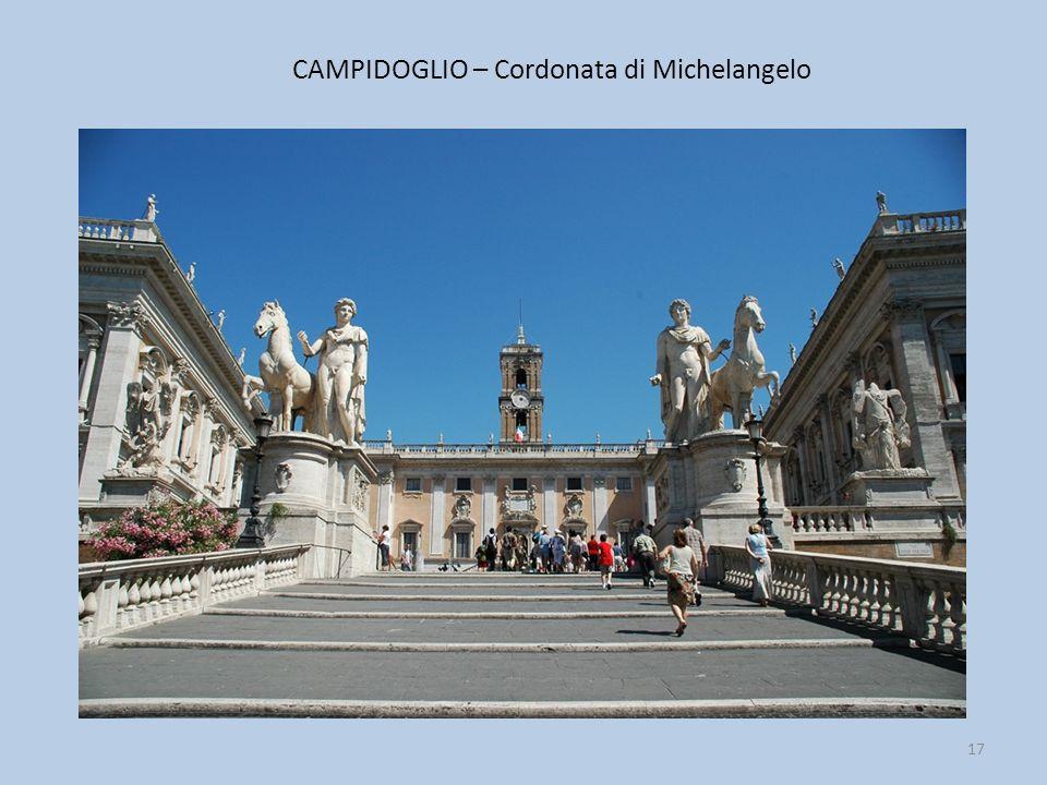 CAMPIDOGLIO – Cordonata di Michelangelo 17