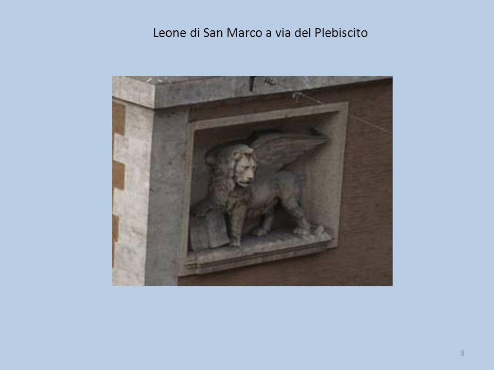 Leone di San Marco a via del Plebiscito 8