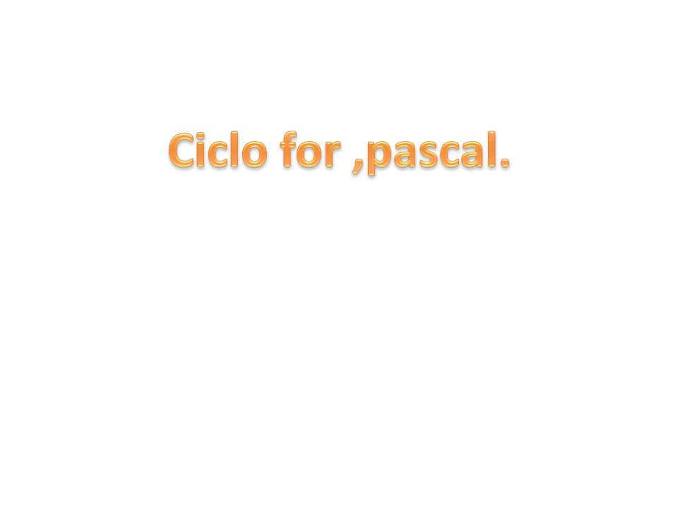 Ciclo for nei linguaggi di programmazione.