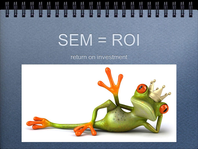 SEM = ROI return on investment