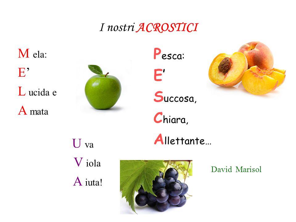 Frutta a scuola Mangiare la frutta fa bene perché tante vitamine contiene… Il giallo LIMONE è un grande amico del MELONE. La CILIEGIA è squisita e la