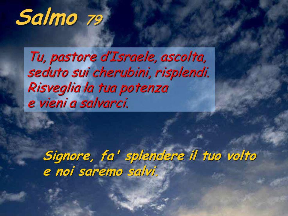 Is 63,16-17.19; 64,2-7 Tu, Signore, sei nostro padre, da sempre ti chiami nostro redentore.