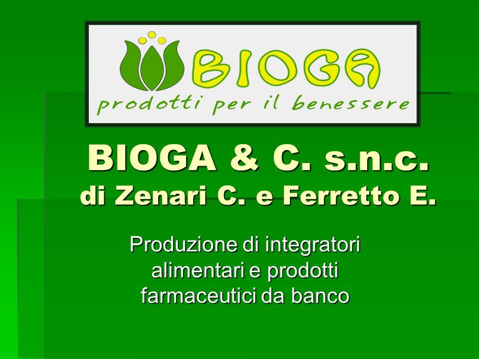 BIOGA & C. s.n.c. di Zenari C. e Ferretto E. Produzione di integratori alimentari e prodotti farmaceutici da banco