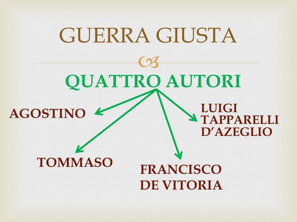  AGOSTINO GUERRA GIUSTA LUIGI TAPPARELLI D'AZEGLIO TOMMASO QUATTRO AUTORI FRANCISCO DE VITORIA
