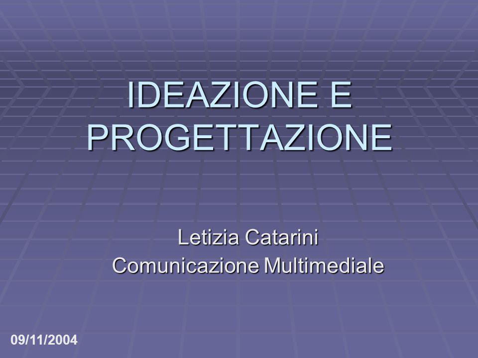 IDEAZIONE E PROGETTAZIONE Letizia Catarini Comunicazione Multimediale 09/11/2004