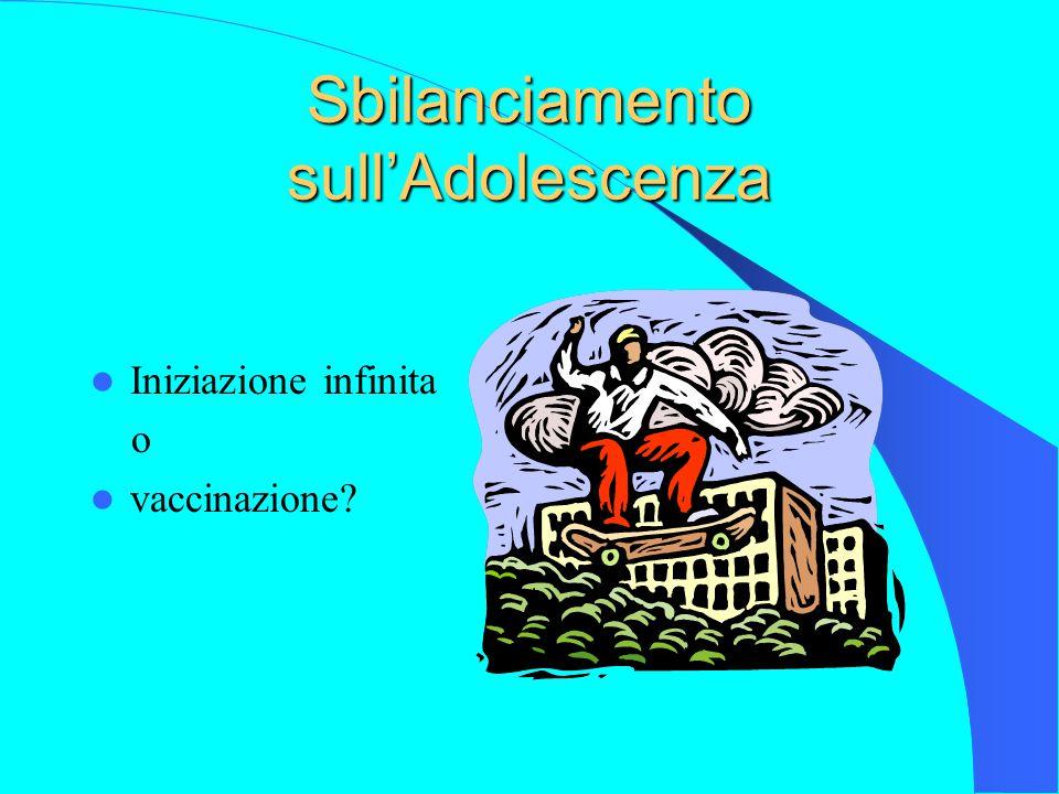 Sbilanciamento sull'Adolescenza Iniziazione infinita o vaccinazione