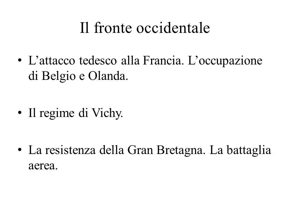 La guerra dell'Italia La fase della non belligeranza .