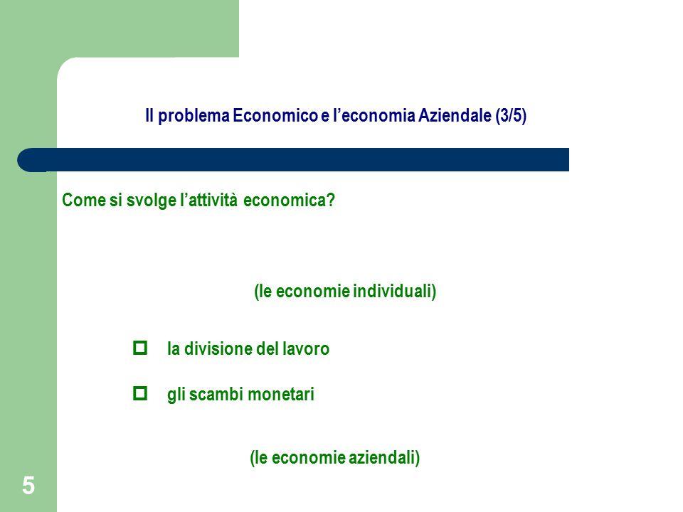 5 Come si svolge l'attività economica.