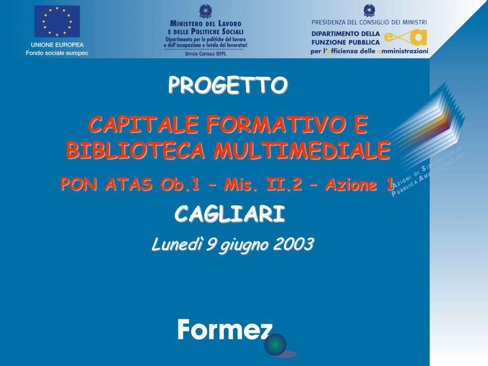 PROGETTO CAPITALE FORMATIVO E BIBLIOTECA MULTIMEDIALE PON ATAS Ob.1 – Mis.