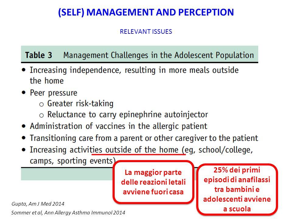 La maggior parte delle reazioni letali avviene fuori casa 25% dei primi episodi di anafilassi tra bambini e adolescenti avviene a scuola Gupta, Am J M