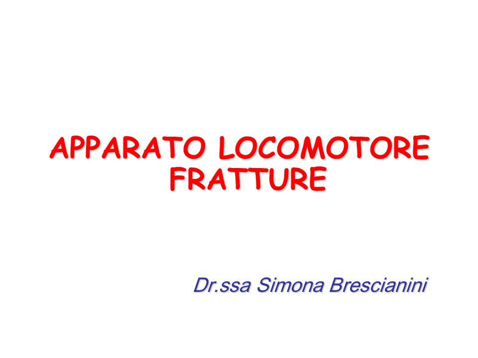 APPARATO LOCOMOTORE FRATTURE Dr.ssa Simona Brescianini Dr.ssa Simona Brescianini