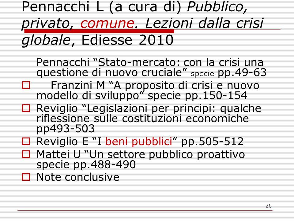 26 Pennacchi L (a cura di) Pubblico, privato, comune.