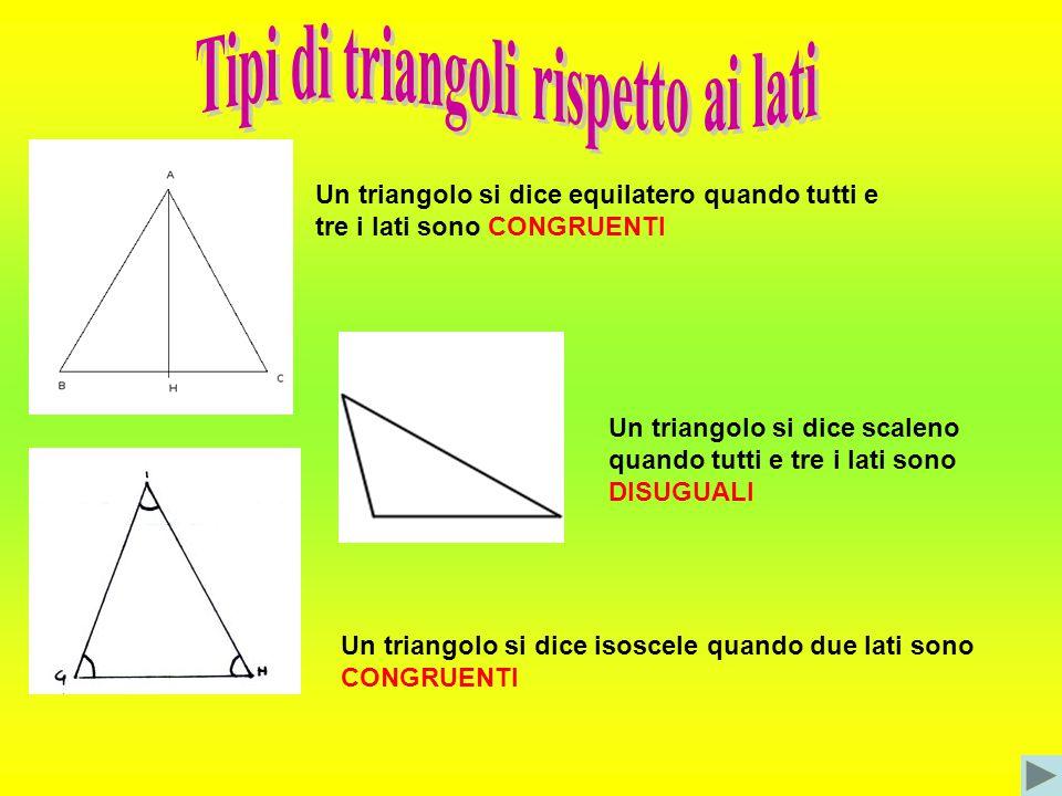 Con tre listelli di cm:10,7,2 é possibile costruire un triangolo? Non è possibile costruire il triangolo perché la somma dei due lati piccoli è minore