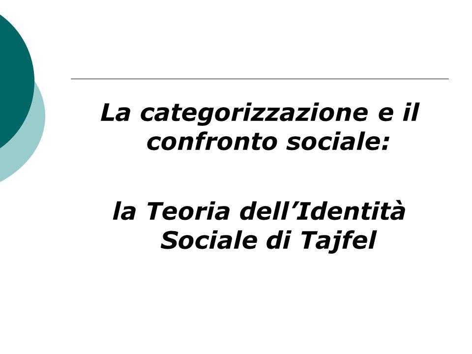 La categorizzazione e il confronto sociale: la Teoria dell'Identità Sociale di Tajfel