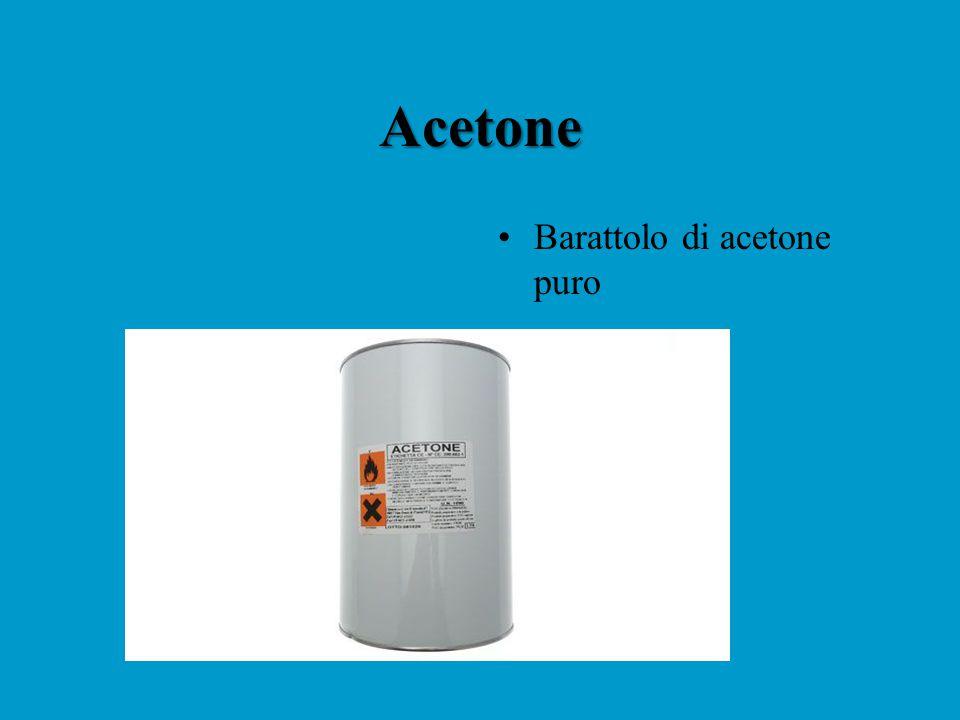 Acetone Barattolo di acetone puro