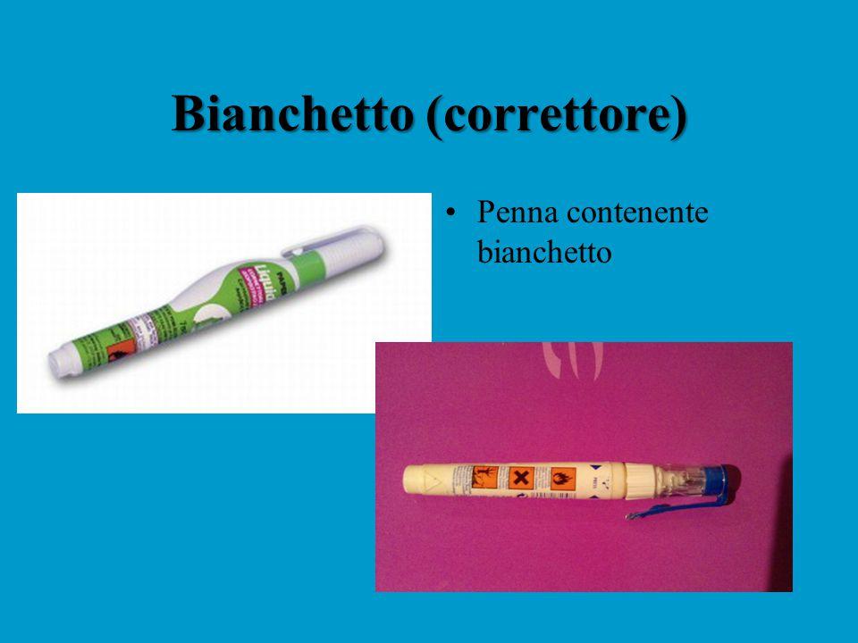 Bianchetto (correttore) Penna contenente bianchetto