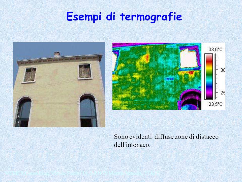 Sono evidenti diffuse zone di distacco dell'intonaco. WEMES Consulting, Vicolo Fucini 14, I-30172 Mestre-Venezia, ITALY Esempi di termografie