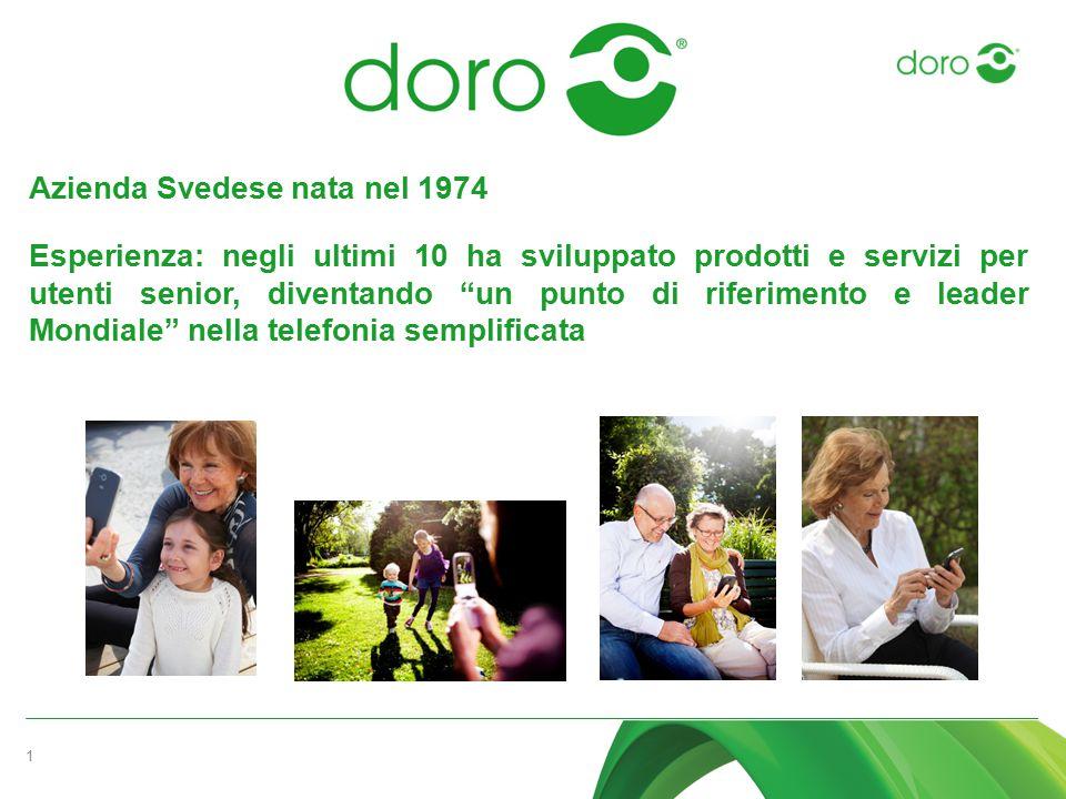 """1 Azienda Svedese nata nel 1974 Esperienza: negli ultimi 10 ha sviluppato prodotti e servizi per utenti senior, diventando """"un punto di riferimento e"""