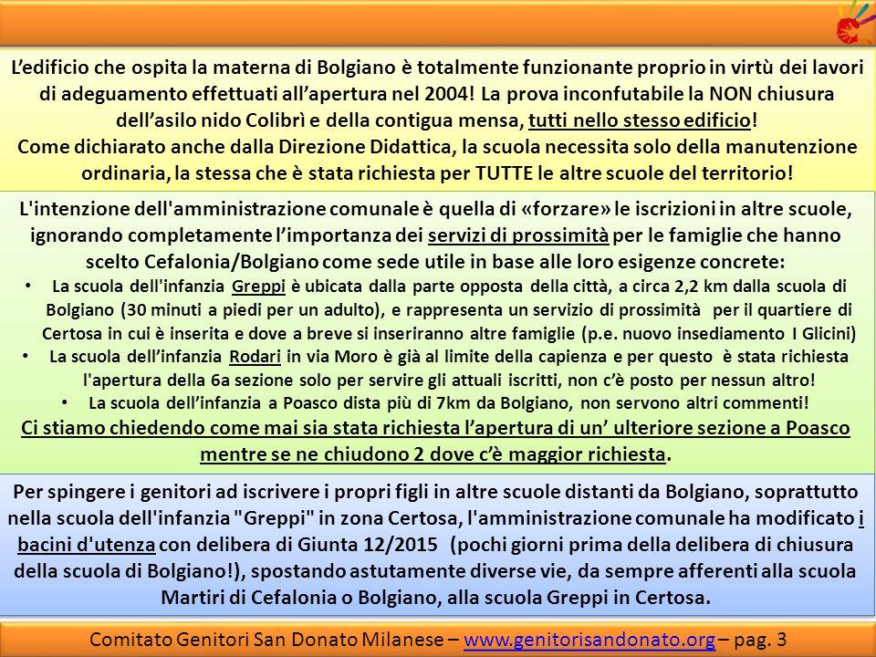 Comitato Genitori San Donato Milanese – www.genitorisandonato.org – pag.