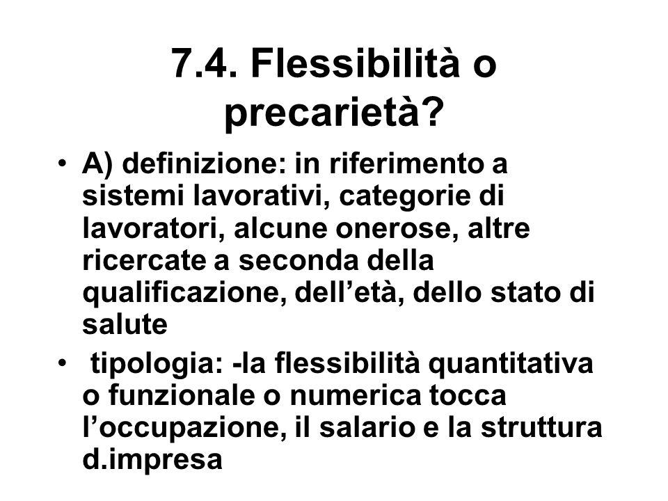 7.4. Flessibilità o precarietà.