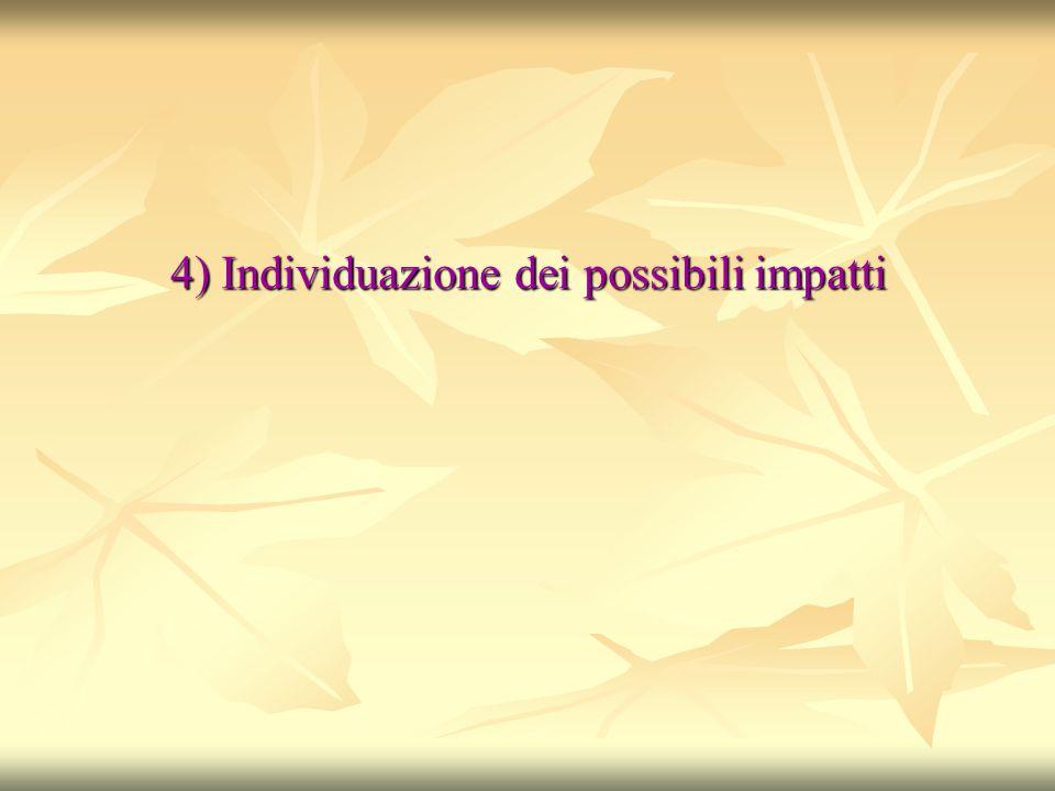 4) Individuazione dei possibili impatti