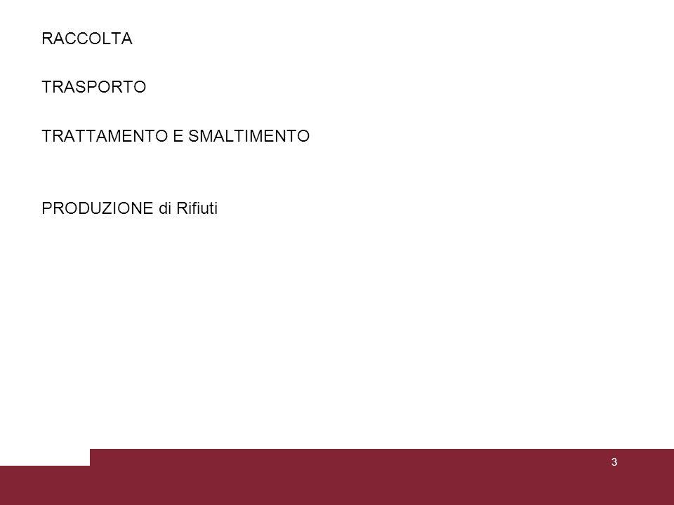 RACCOLTA TRASPORTO TRATTAMENTO E SMALTIMENTO PRODUZIONE di Rifiuti 3