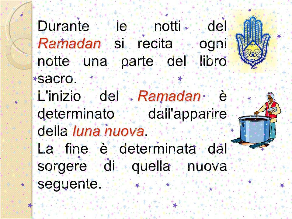 Ramadan Durante le notti del Ramadan si recita ogni notte una parte del libro sacro.
